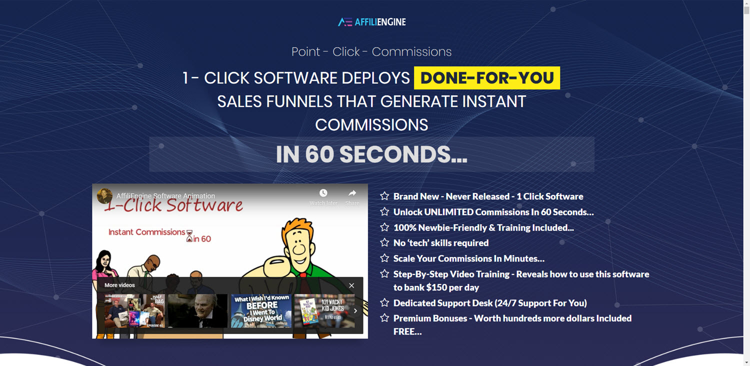 Single Click Commissions… In Just 60 Seconds?