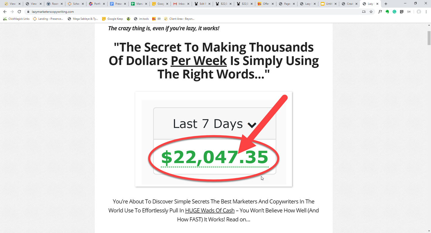 $22,047.35 In Only 7 Days From Just One Letter?